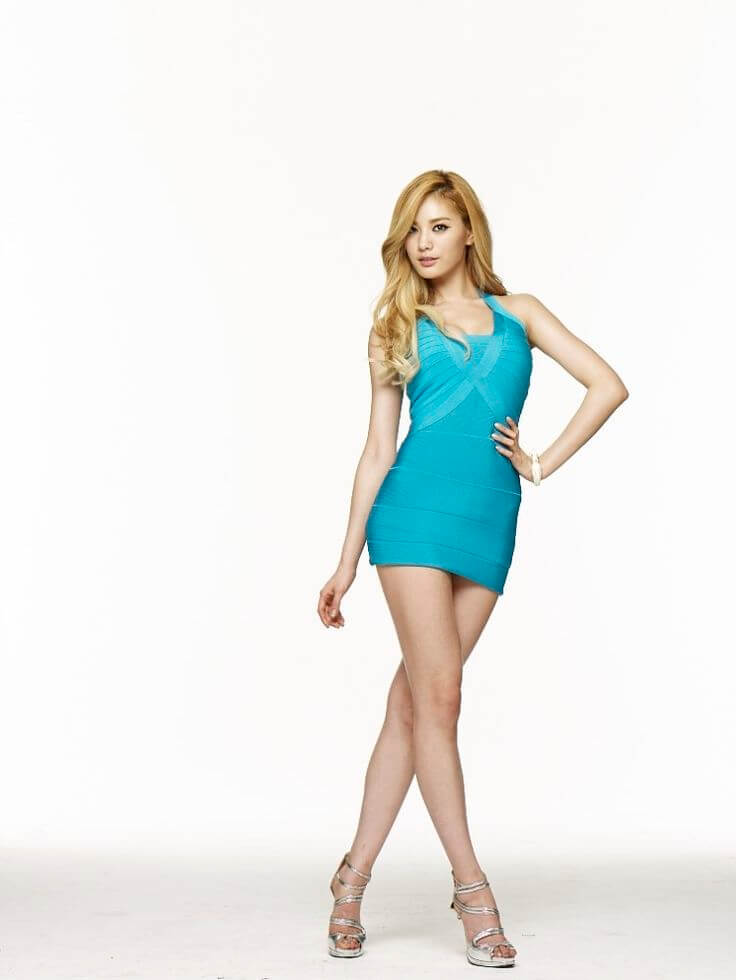 Nana K-Pop sexy blue dress