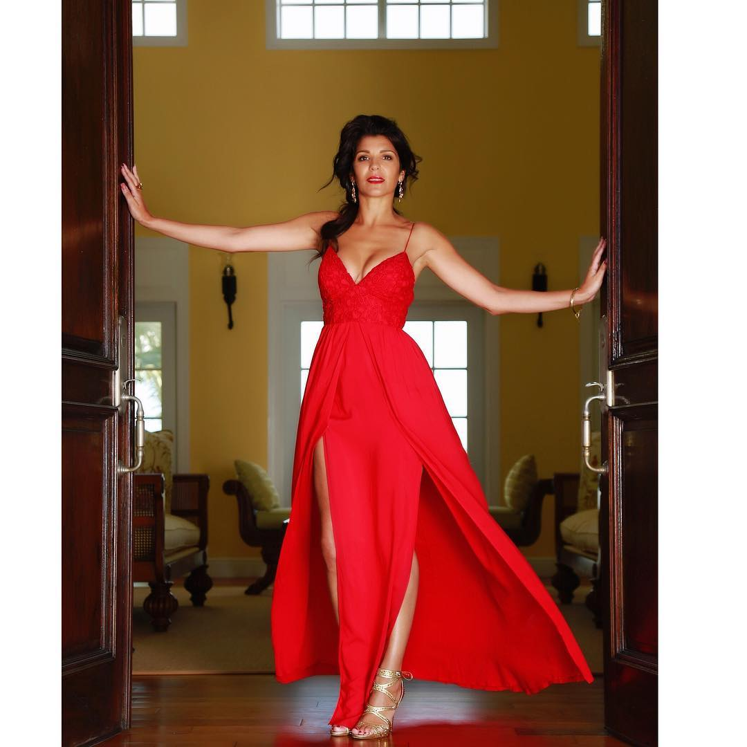 Natalie Anderson Hot in red Dress