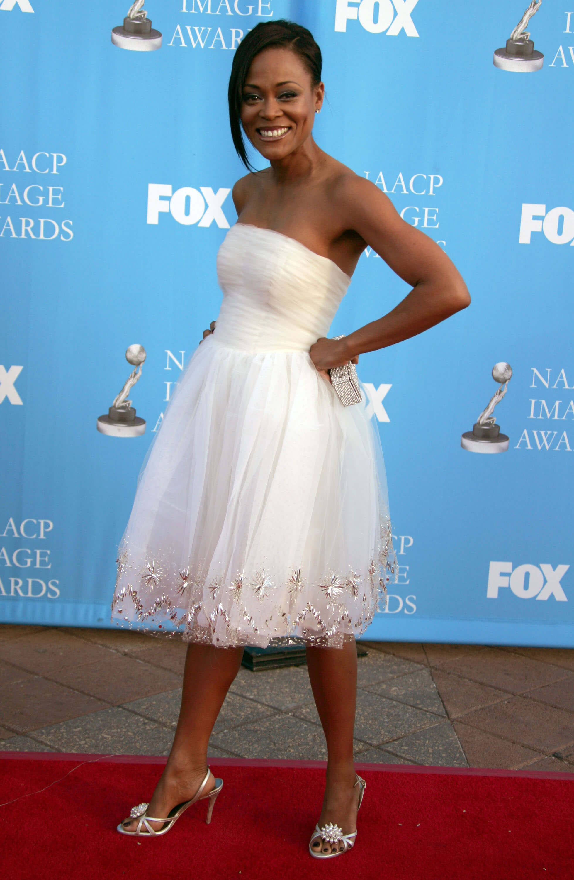 Robin Givens hot white look