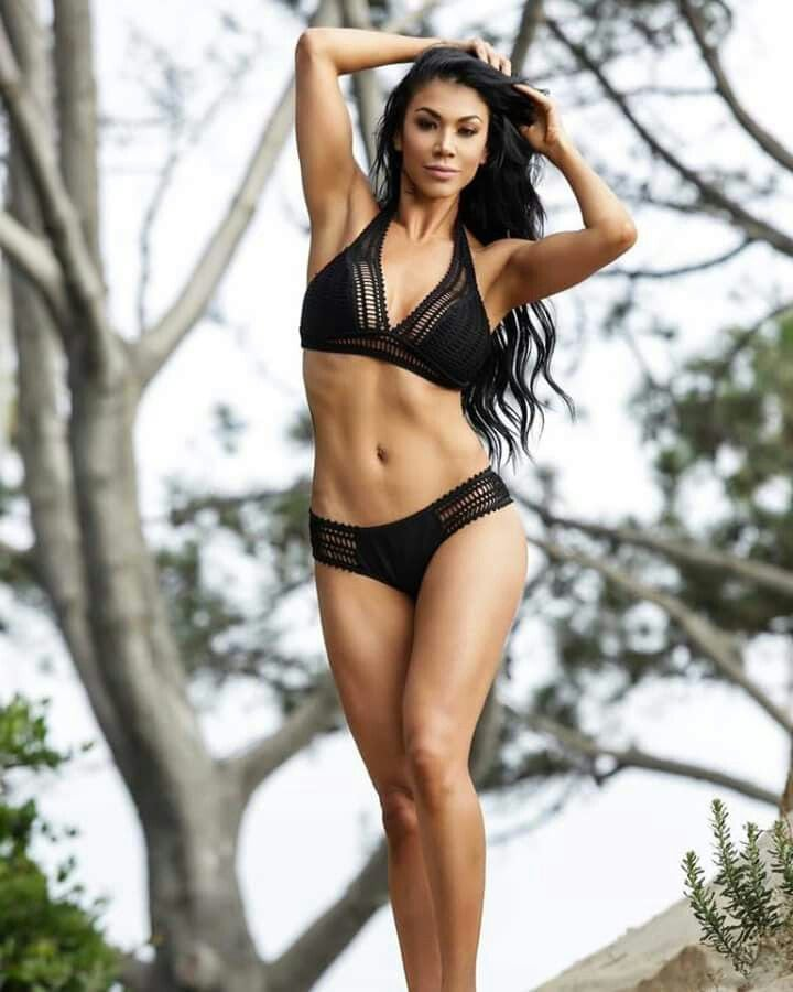 Rosa Mendes Hot in Black BIkini