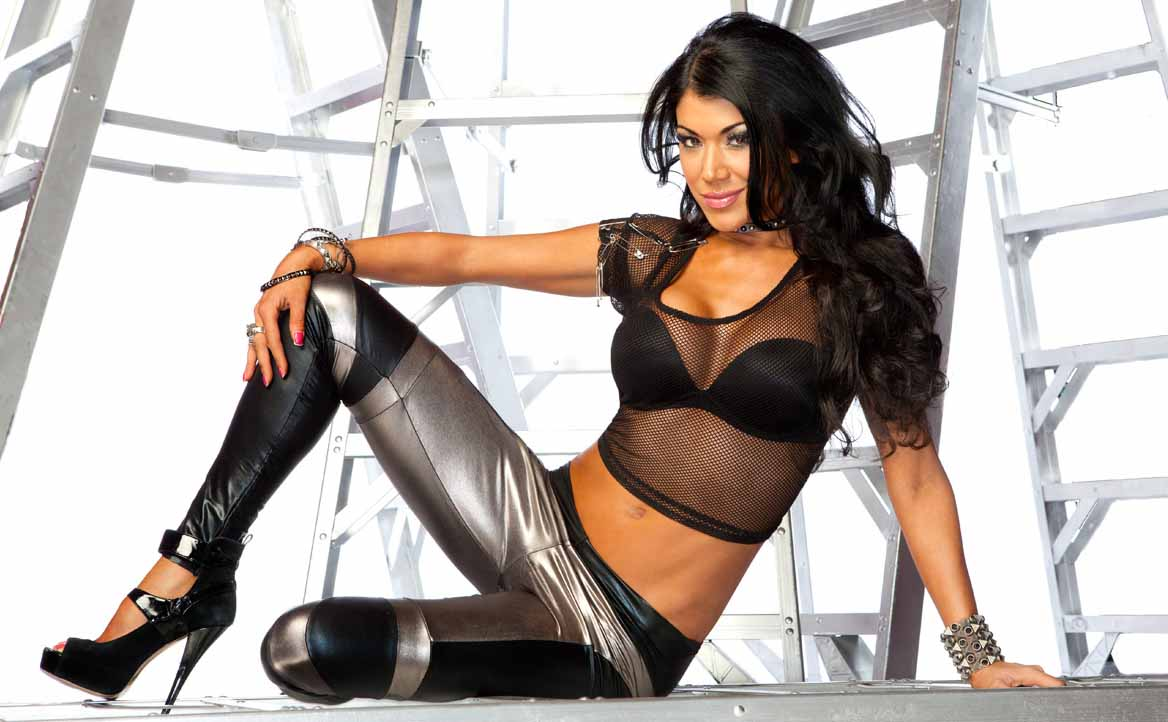 Rosa Mendes Sexy Feet in High Heels