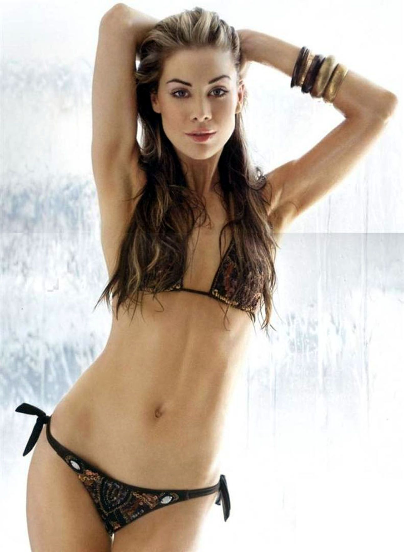 Roxanne McKee Hot in Black Bikini