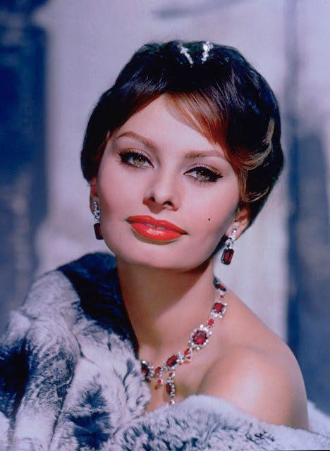 Sophia Loren Red Lips
