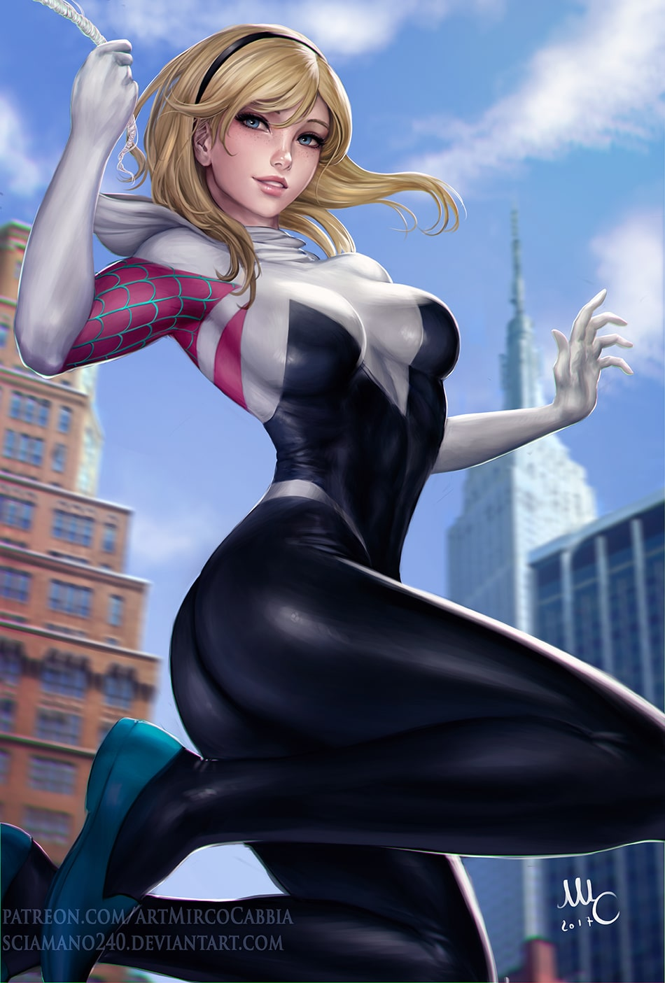 Spider Gwen hot ass pic