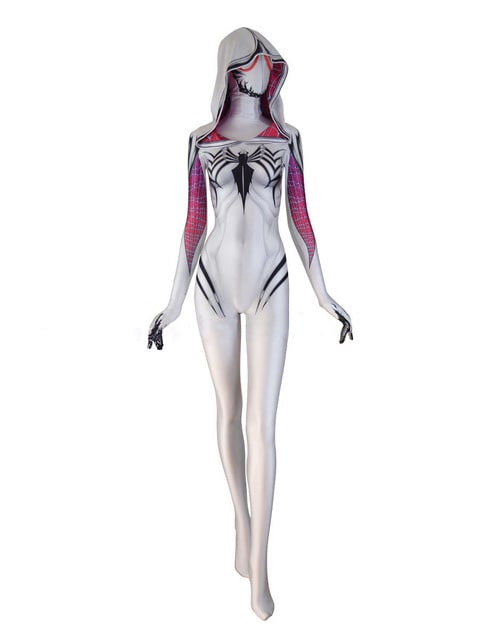 Spider Gwen white sexy dress