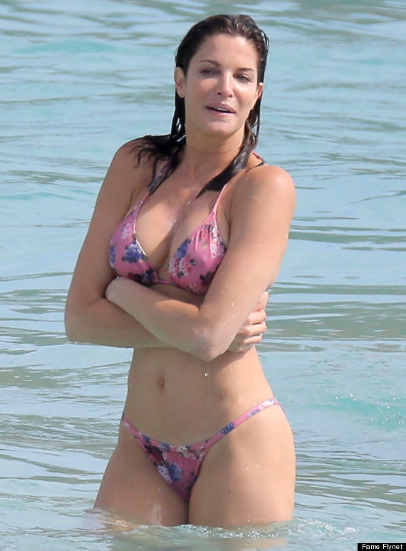 Stephanie Seymour Showing Off Her Hot Bikini Body In St. Barts ***SEE RESTRICTIONS***