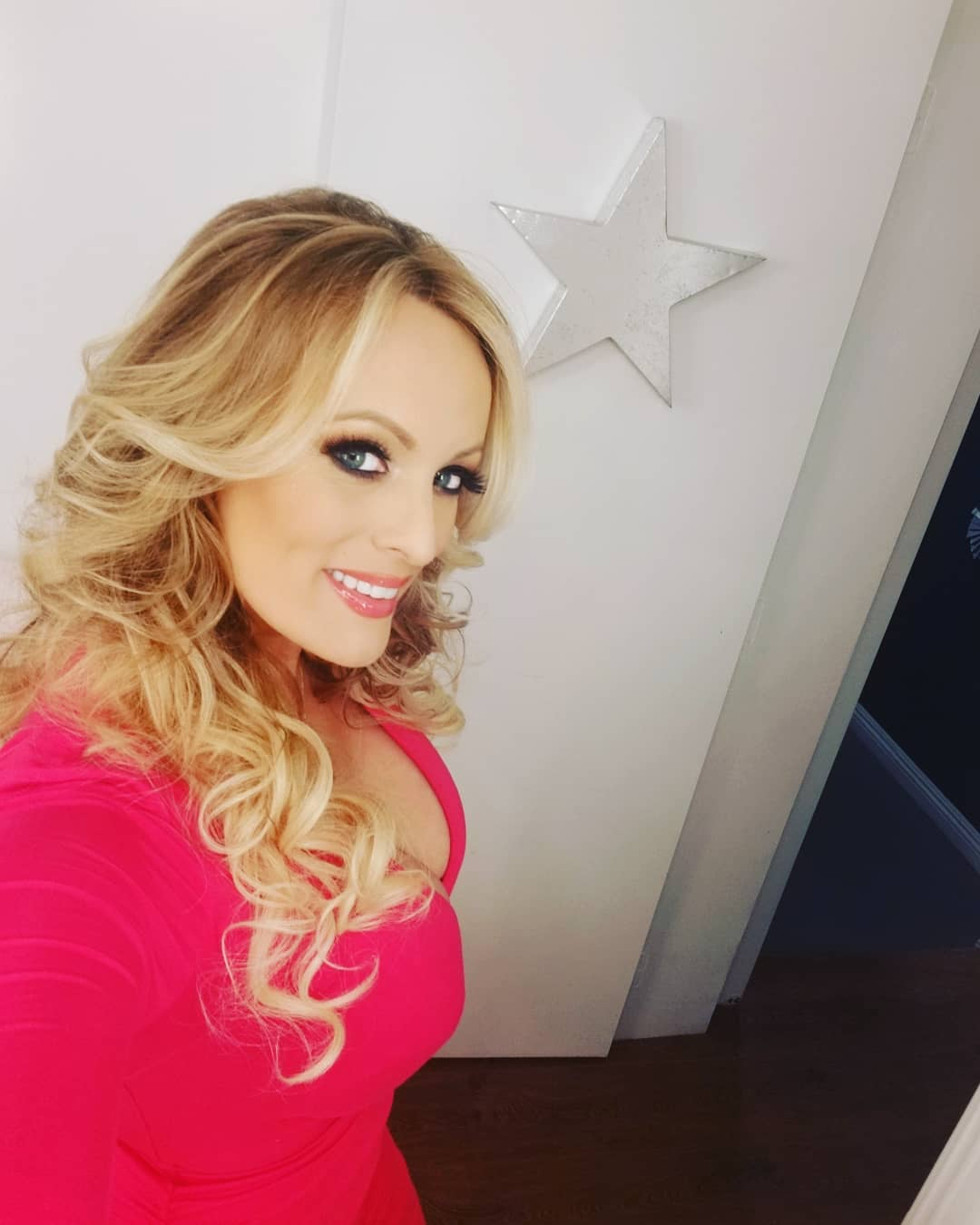 Stormy Daniels Hot in Pink Dress