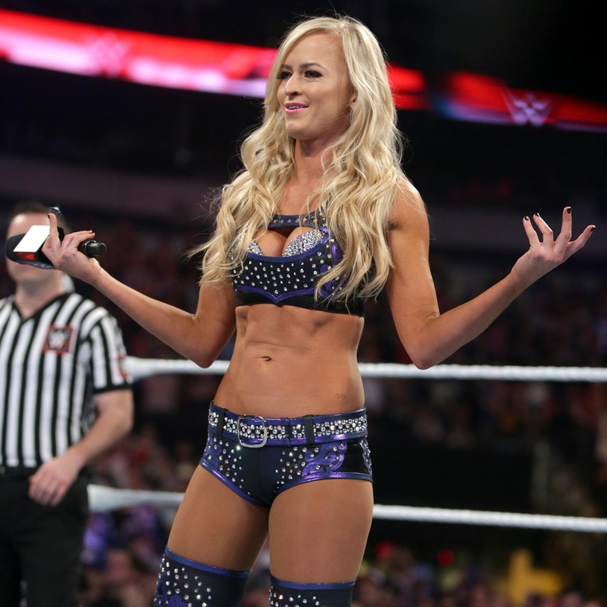 Summer Rae on WWE Stage