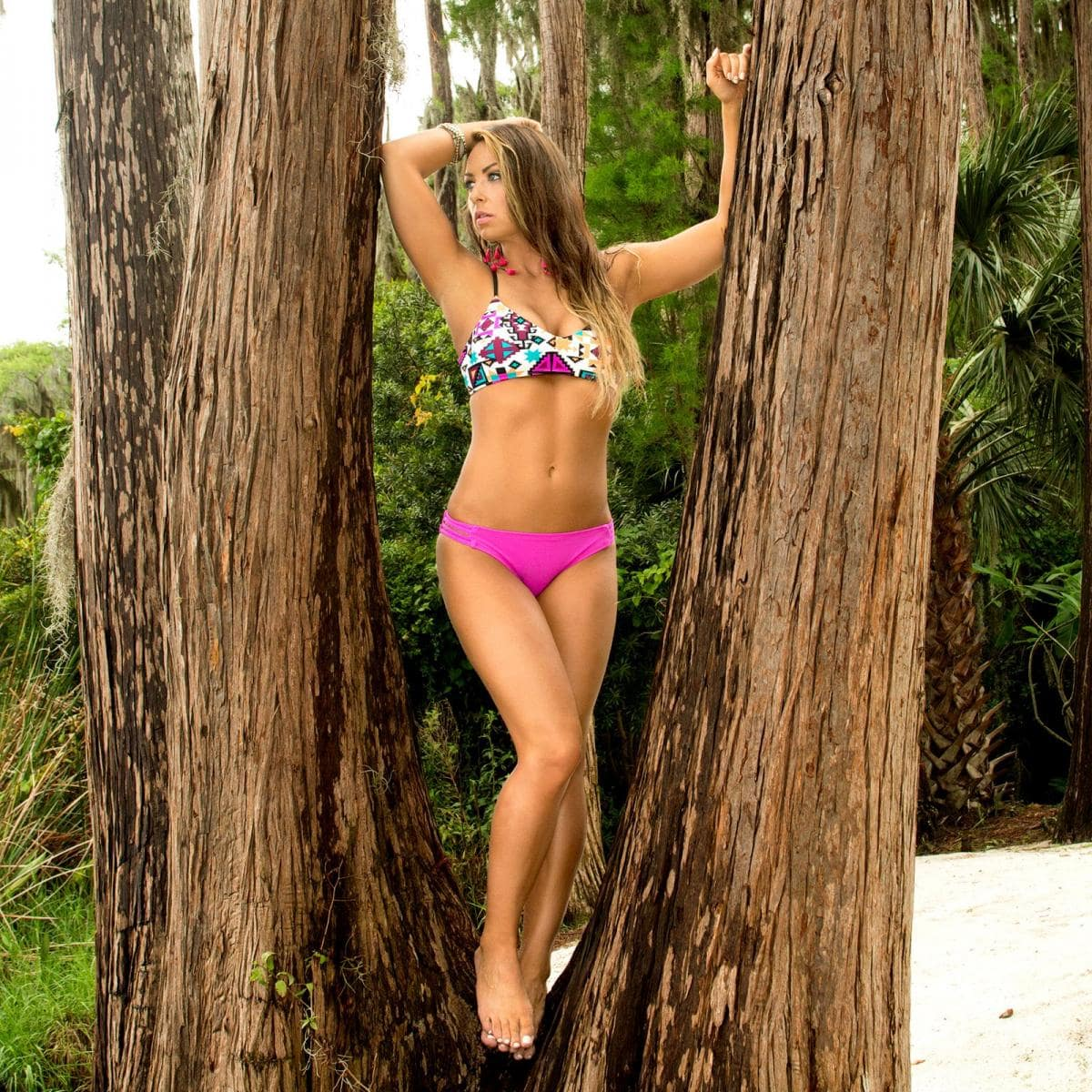Tenille Dashwood in jungle