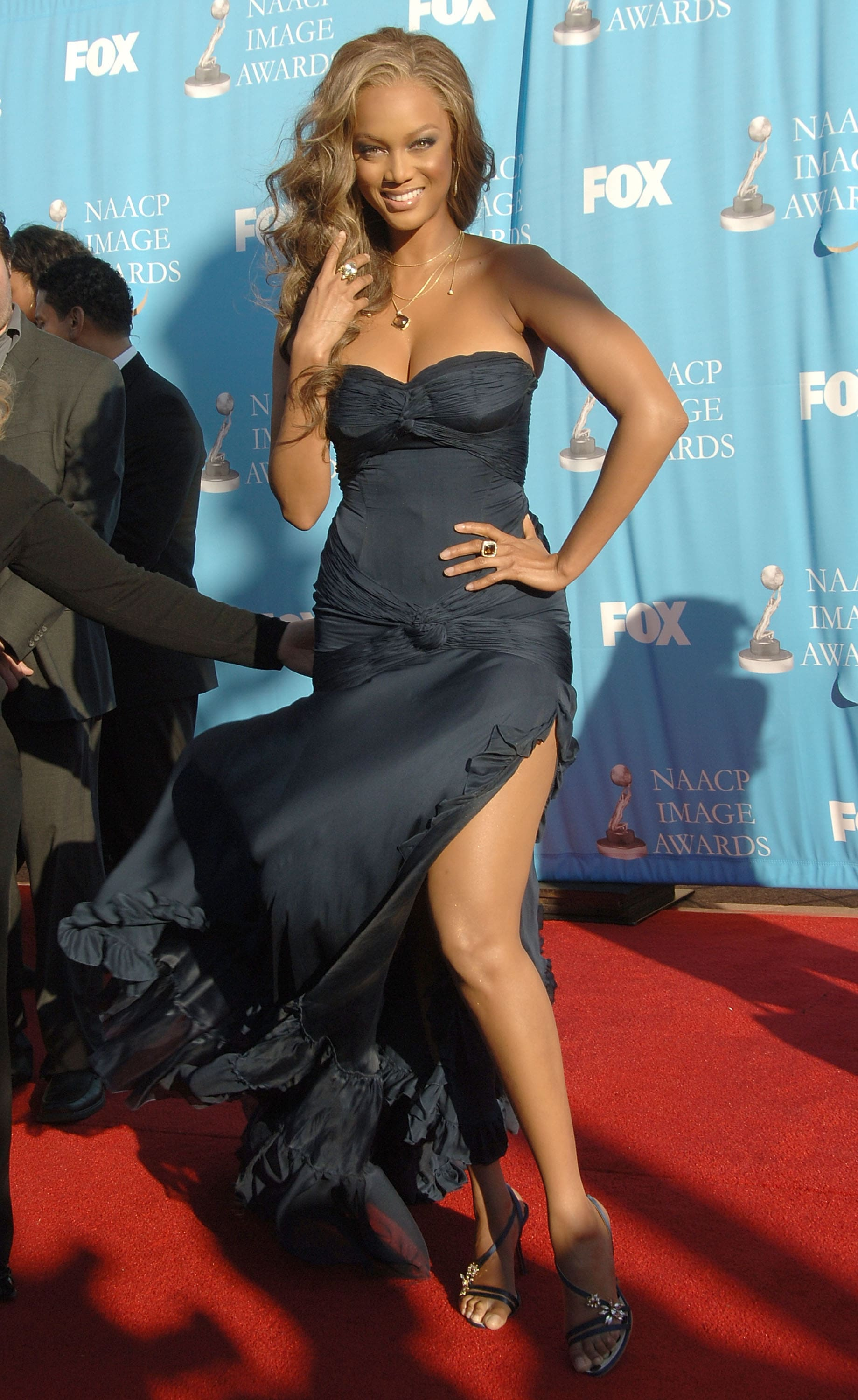 Tyra Banks hot gown