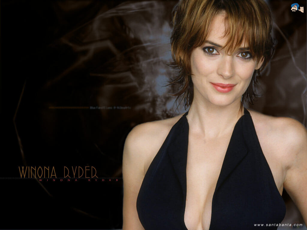 WINONA RYDER cleavage photo