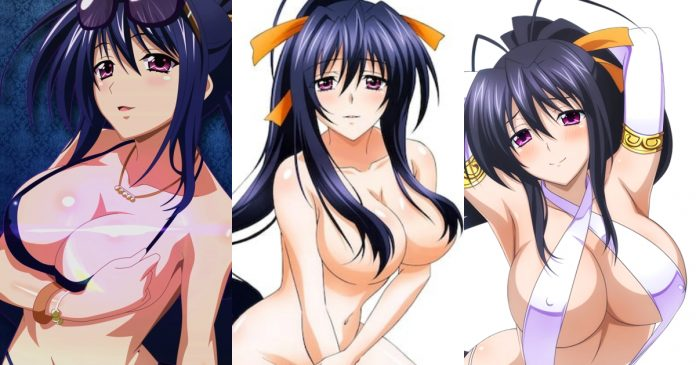 49 Sexy Akeno Himejima From The Anime High School DxD Boobs Pictures Are Provocative As Hell