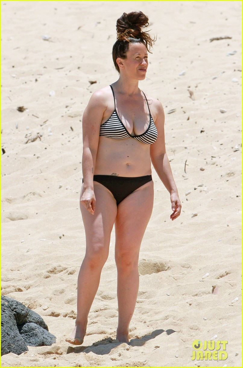Alanis Morissette on Beach