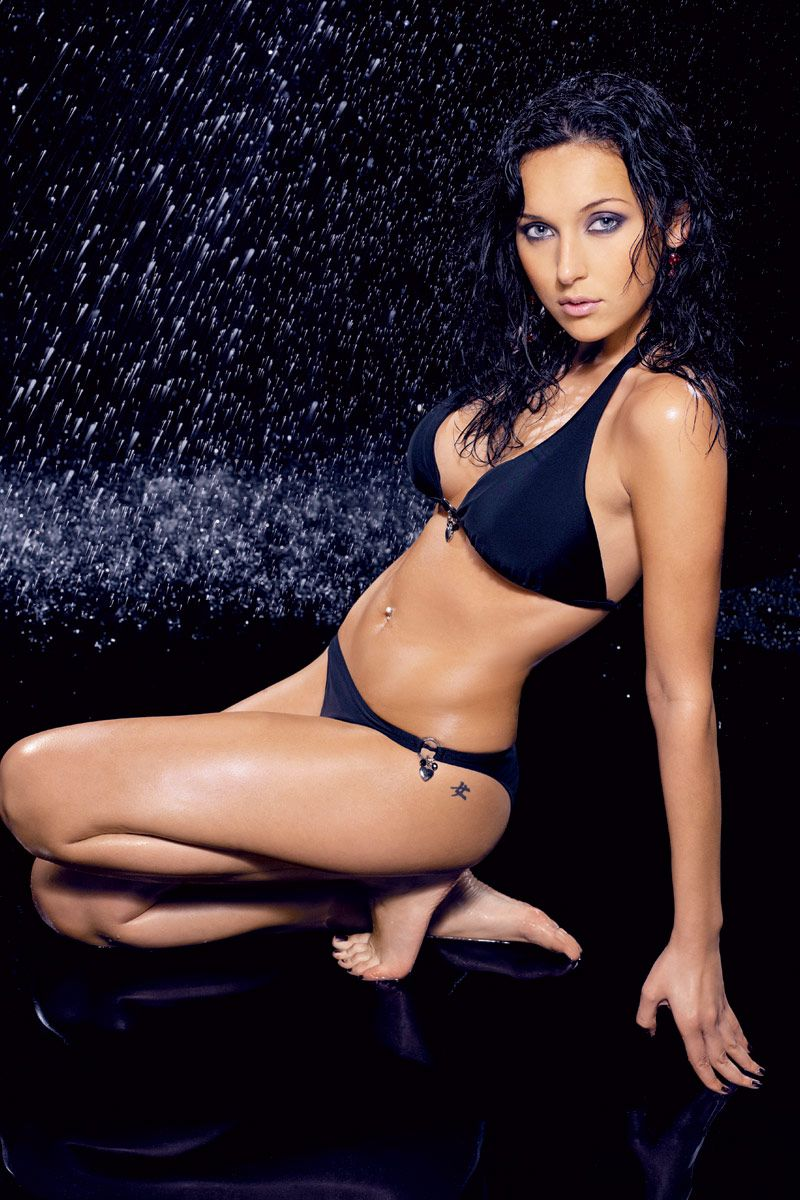 Alsou Hot in Black Bikini