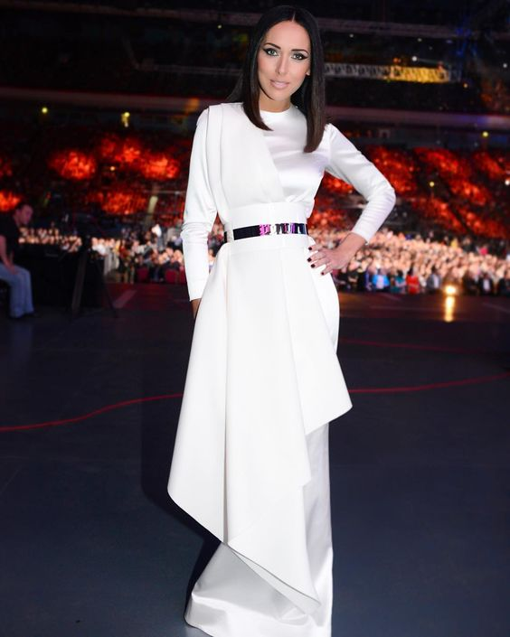 Alsou Hot in White Dress