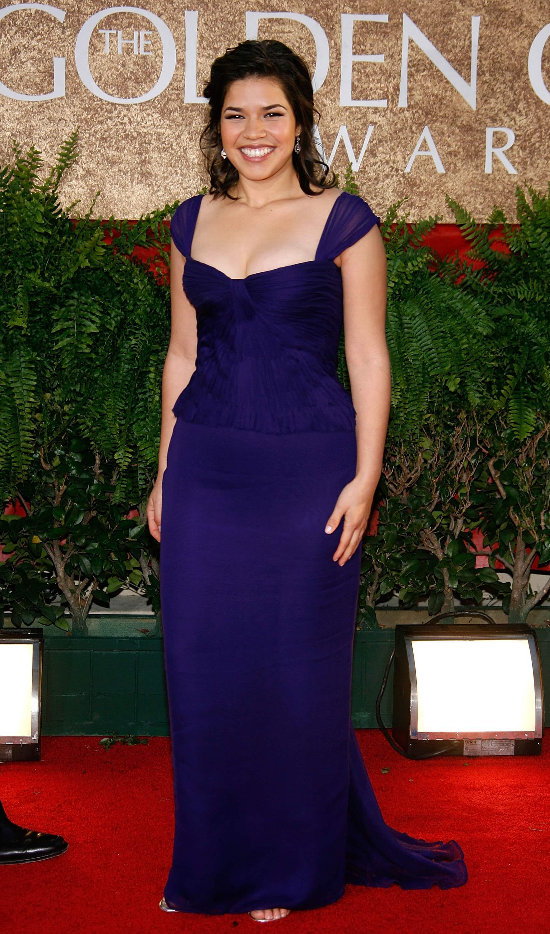 America Ferrera hot blue dress