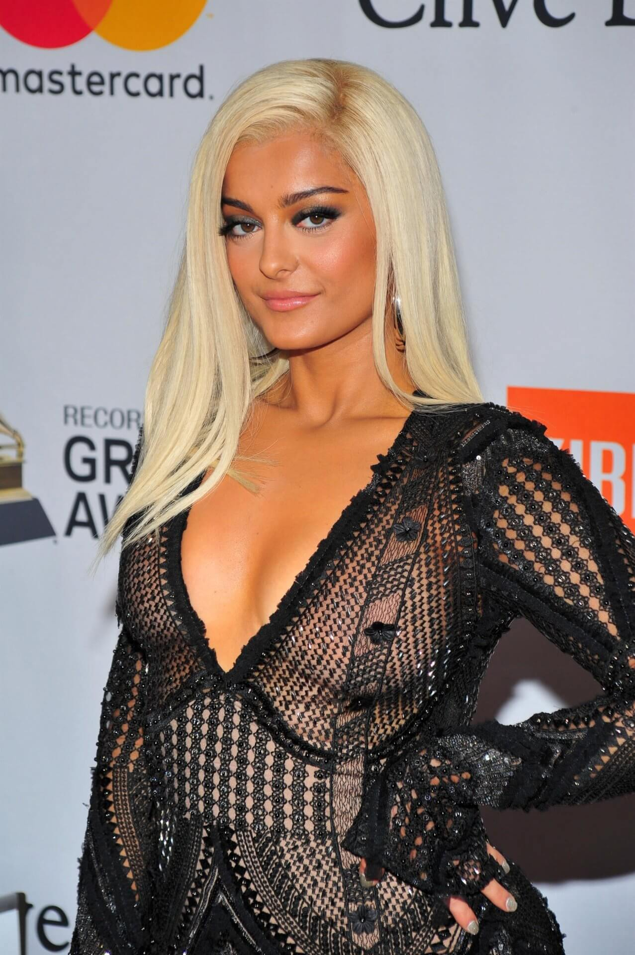 Bebe Rexha sexy cleavage photos