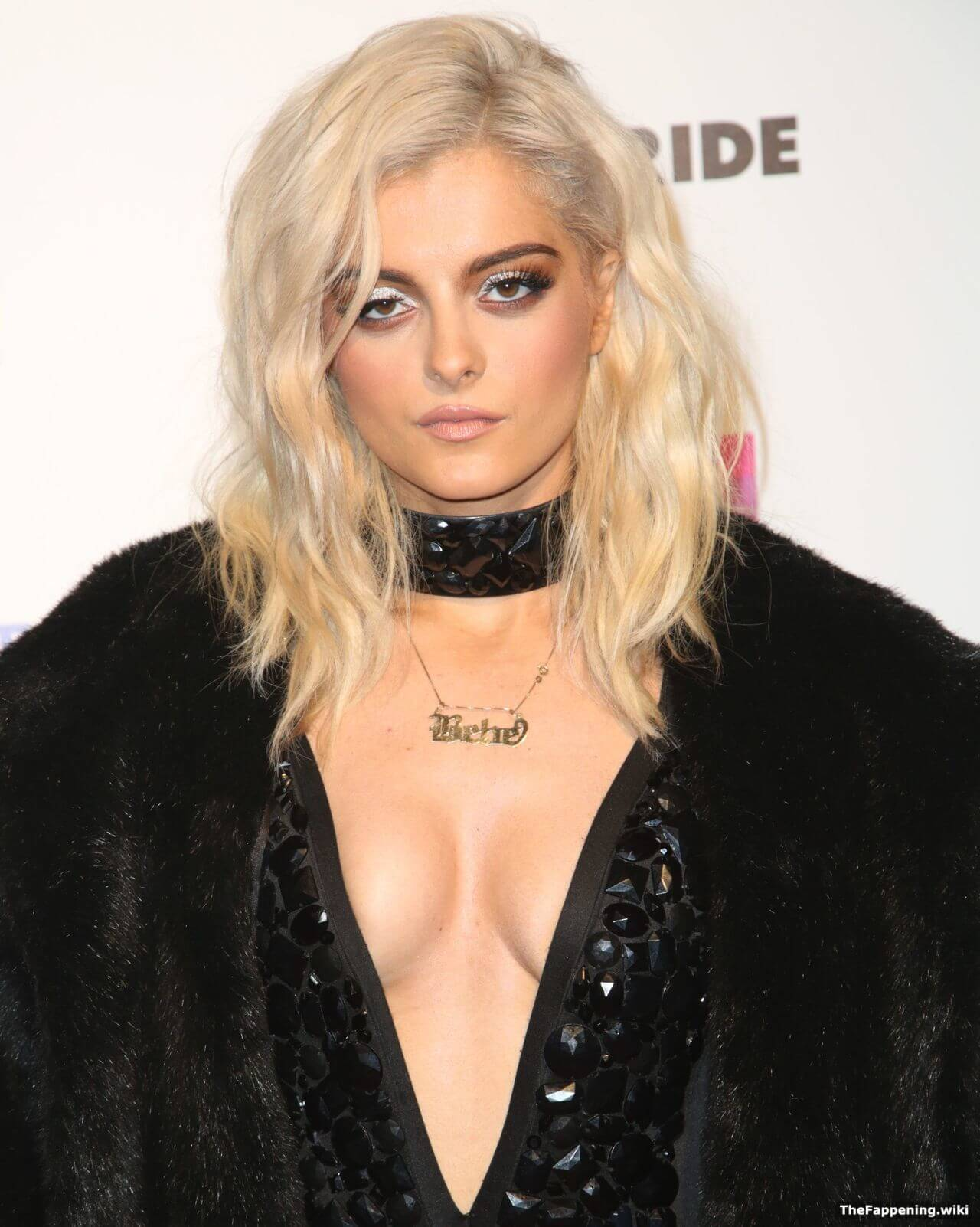 Bebe Rexha sexy cleavage pic