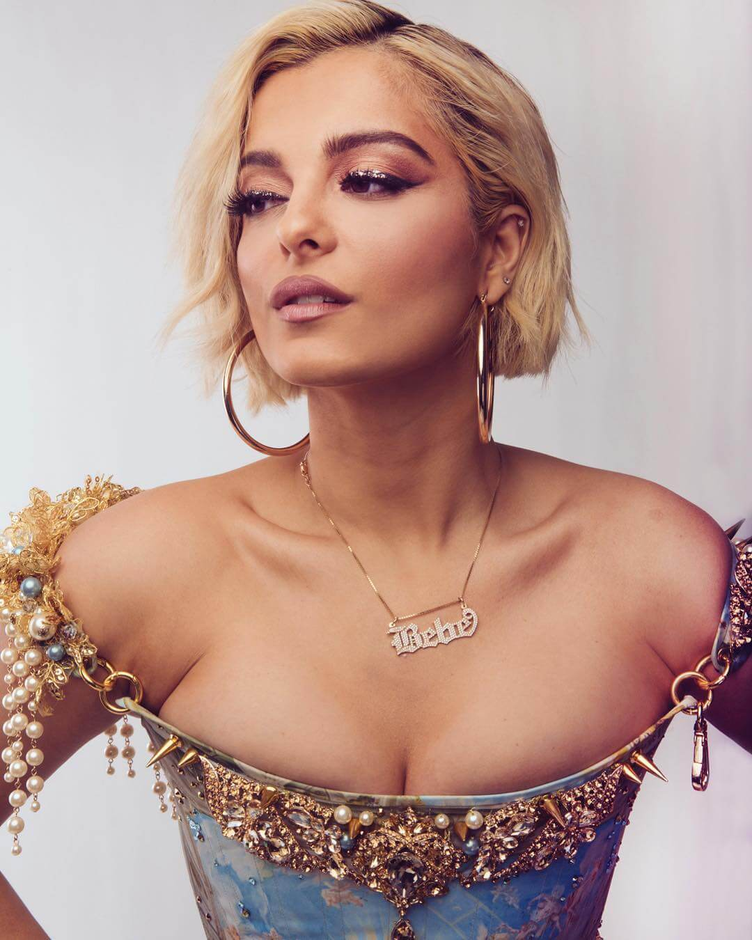 Bebe Rexha sexy cleavage pictures