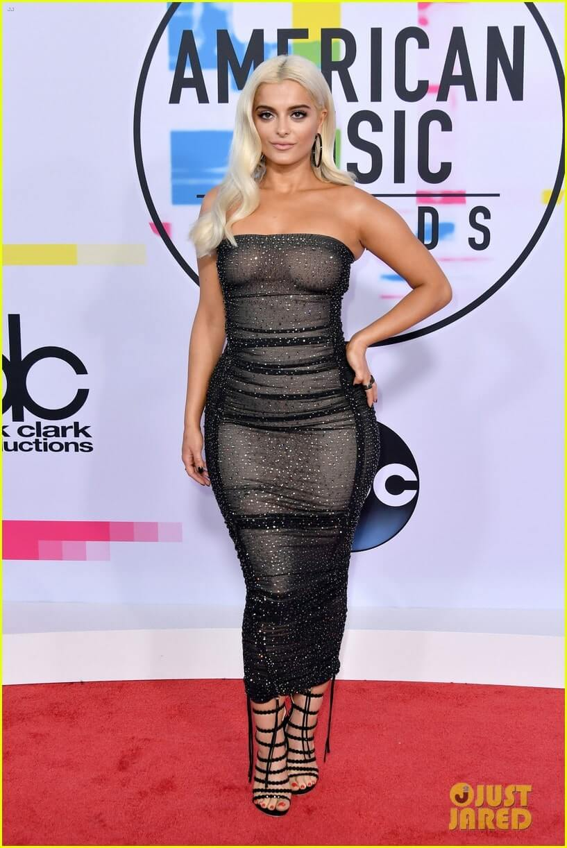Bebe Rexha sexy tite dress
