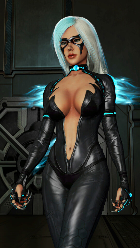 Black Cat hot cleavage picture