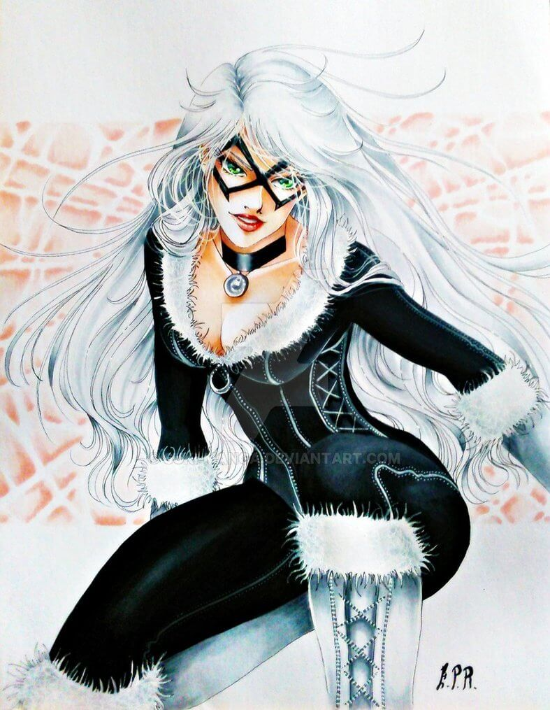 Black Cat sexy look pic
