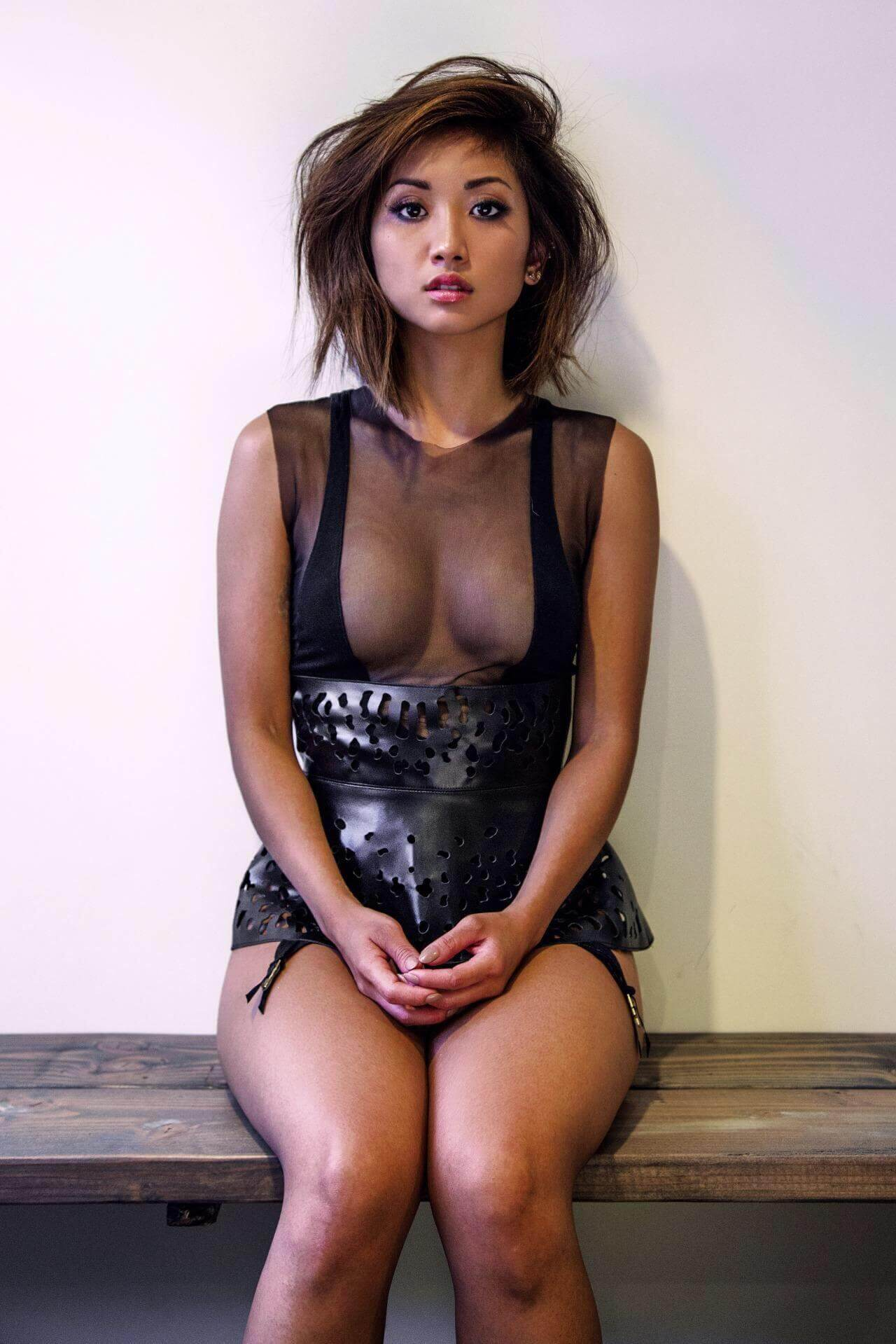 Brenda Song sexy cleavage