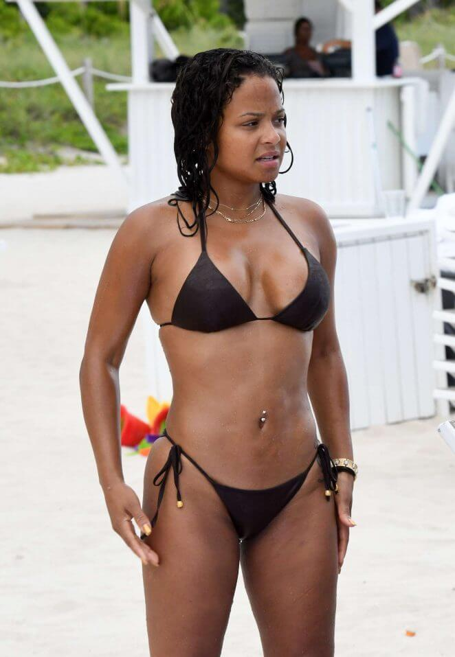 CHRISTINA MILIAN sexy black bikini photo