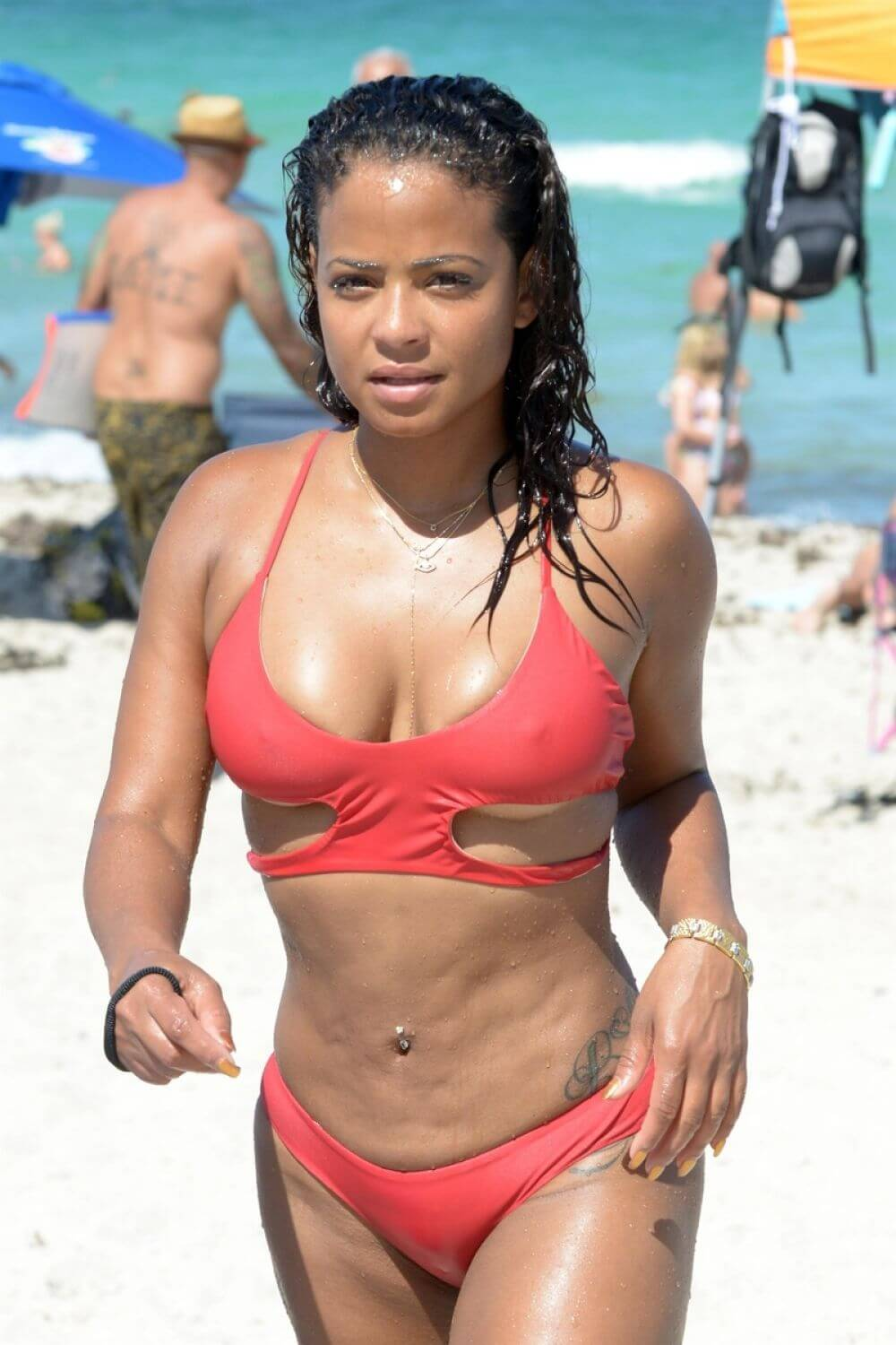 CHRISTINA MILIAN sexy red bikini