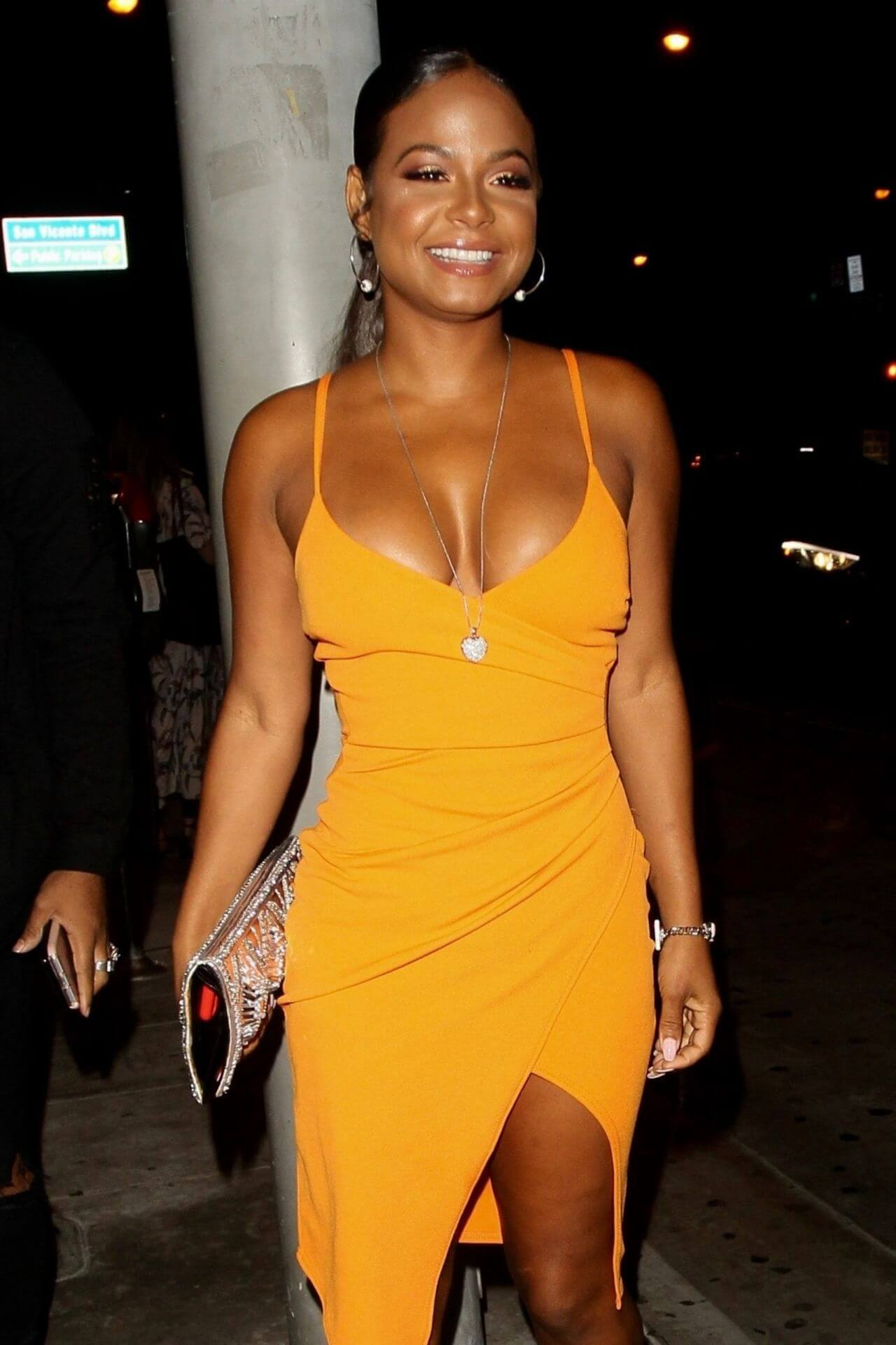 CHRISTINA MILIAN sexy yellow dress