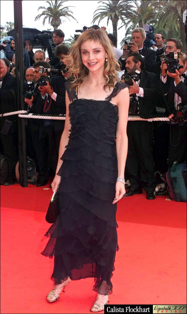 Calista Flockhart black dress
