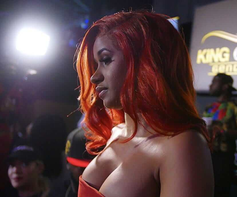 Cardi B sexy cleavages pics