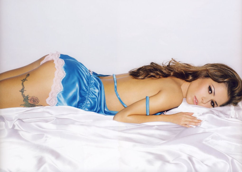 Cheryl Cole on Bed