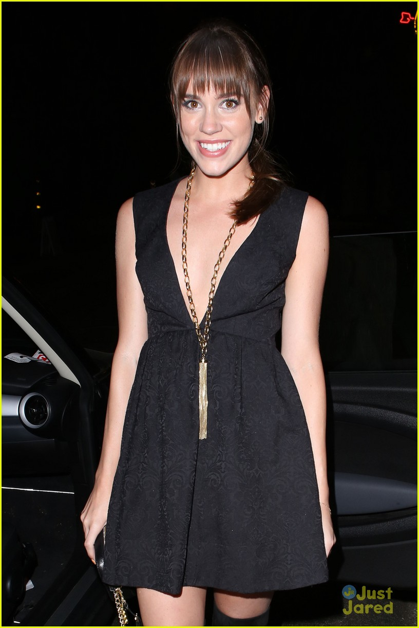 Christa B. Allen heads out of Chateau Marmont in West Hollywood