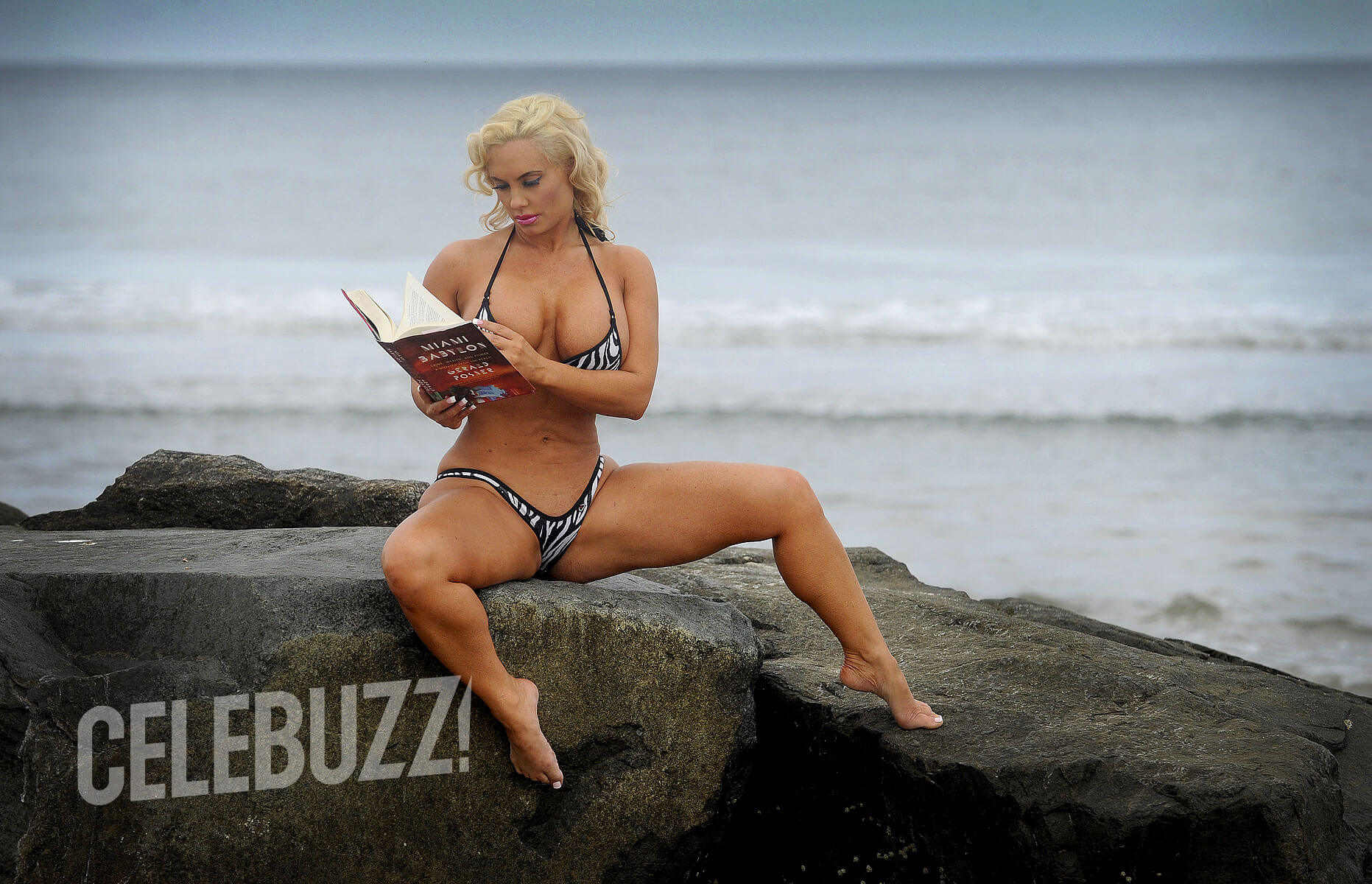 Coco Austin sexy sea beach look