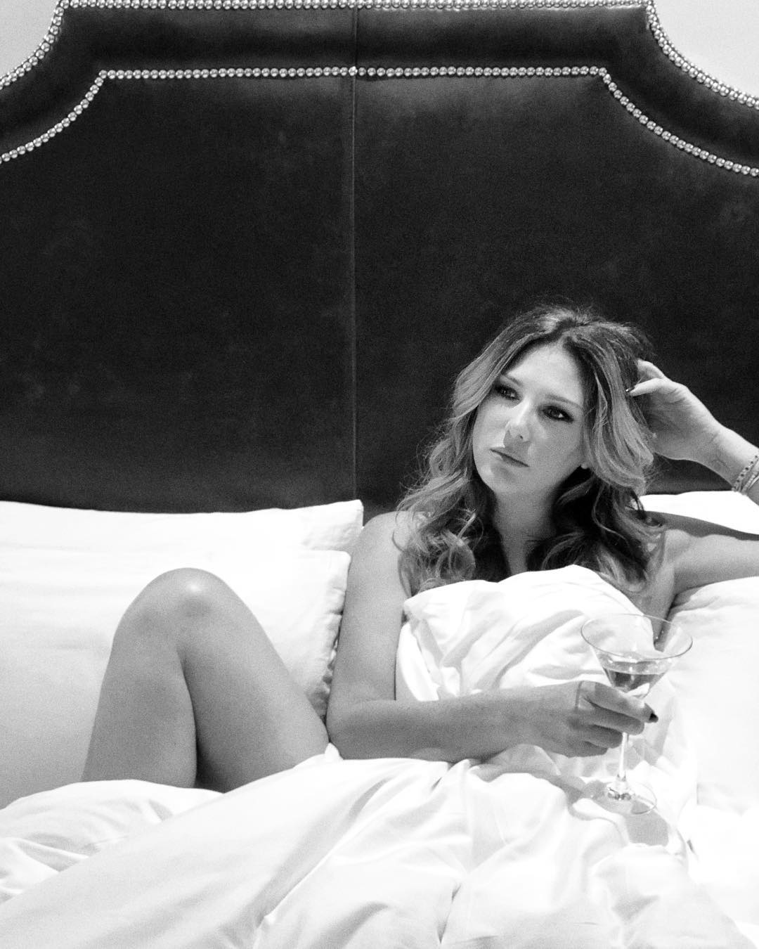 Daisy Fuentes on Bed