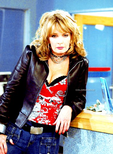 Deidre Hall Hot in Leather Jacket