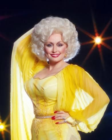 Dolly Parton Hot in Yellow Dress