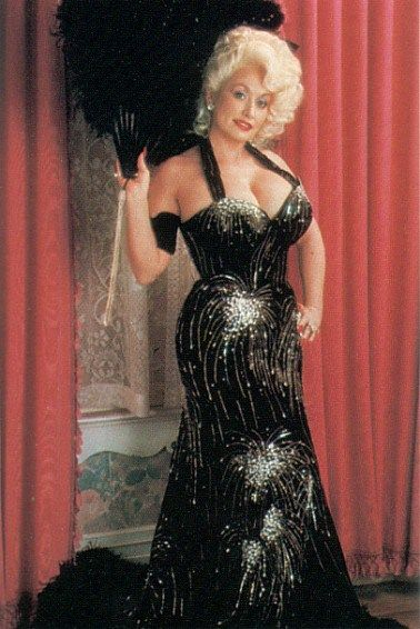 Dolly Parton Sexy Boobs Pictures on Black Dress