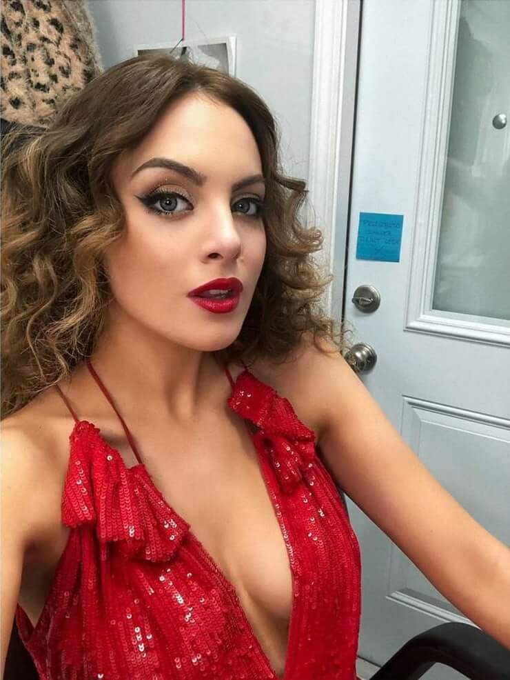 Elizabeth Gillies red awesome dress