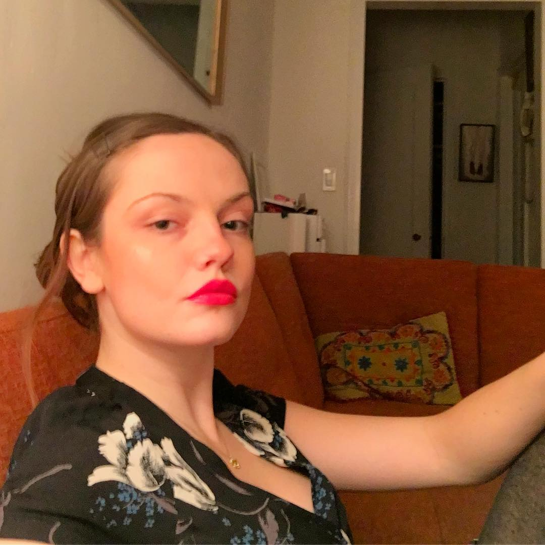 Emily Meade Red Lips