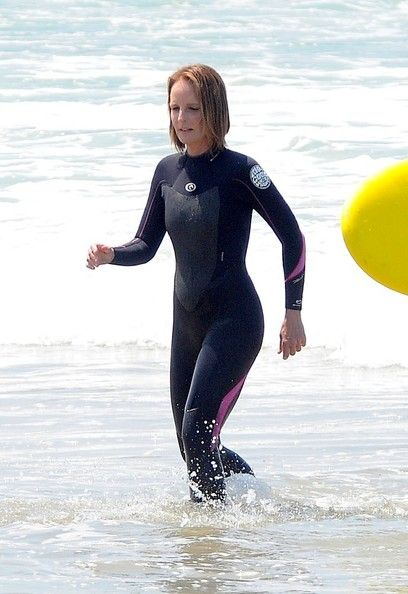 Helen Hunt on Beach