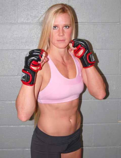 Holly Holm Boxing Practice