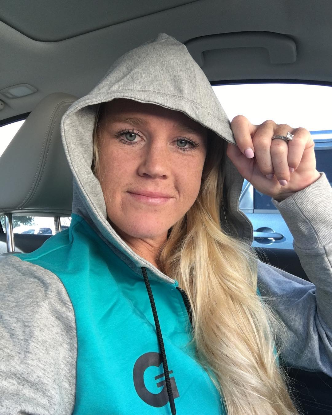 Holly Holm on Car