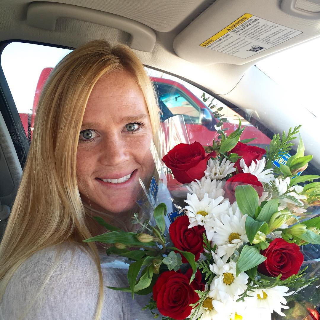 Holly Holm with Flower