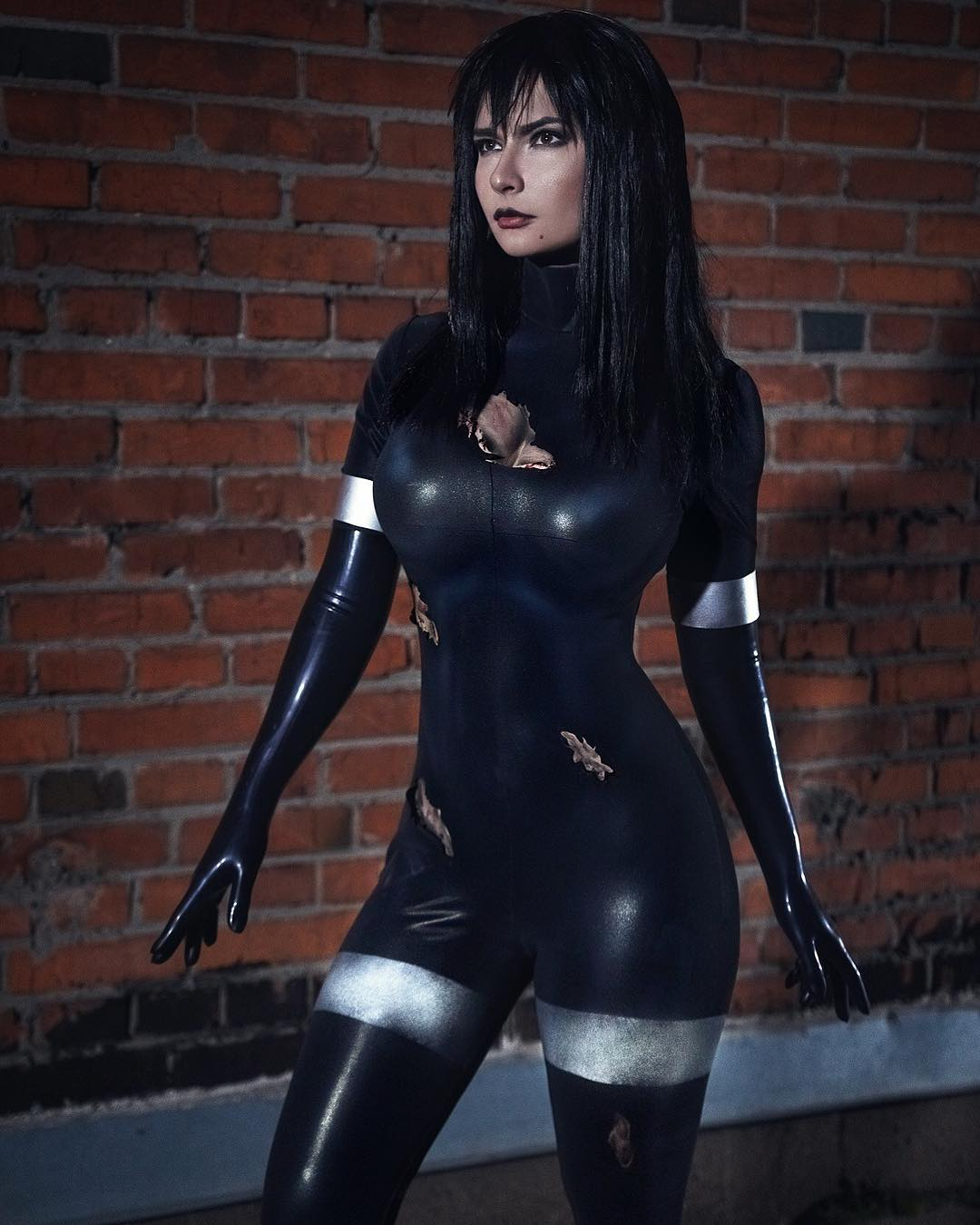 Jannet Incosplay Hot in Black Cosplay Dress