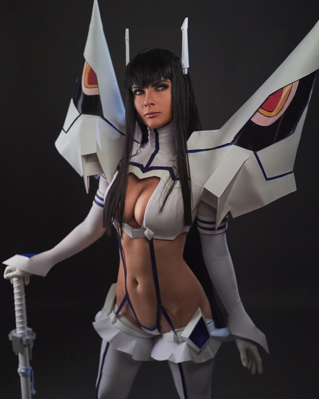 Jannet Incosplay Sexy Boobs Pictures on Cosplay Dress