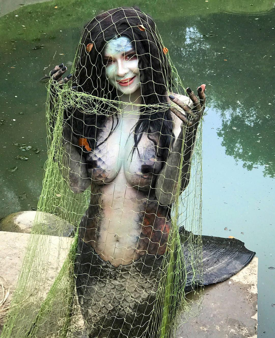 Jannet Incosplay Sexy Boosb Pictures on Fish Look