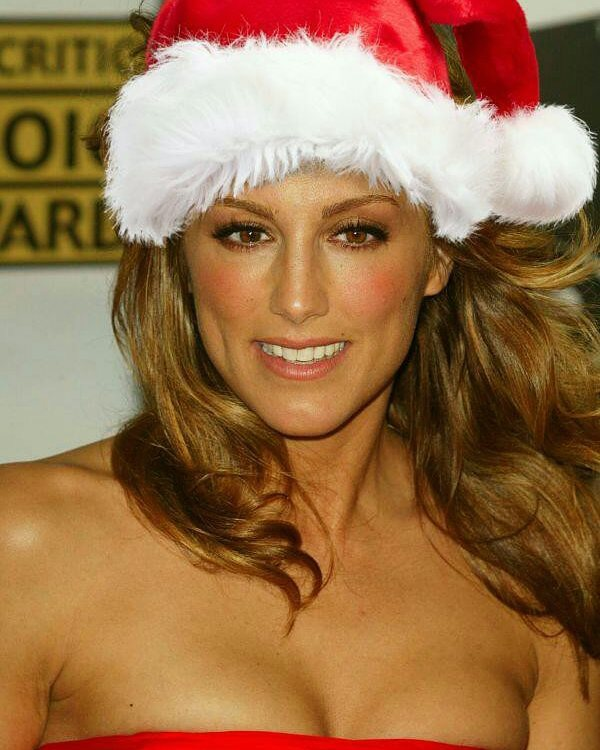 Jennifer Esposito Celebrating Christmas