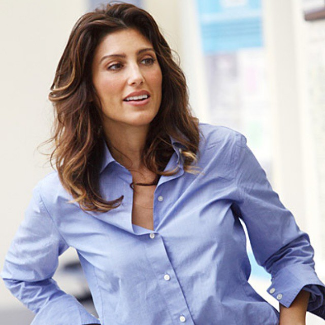 Jennifer Esposito Hot in Blue Shirt